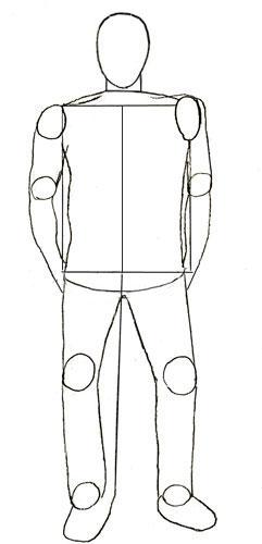 как рисовать человека в одежде: